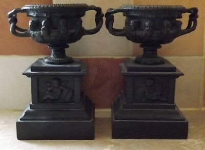 Pair of Antique French Grand Tour Bronze Models of the Warwick Vase c1860