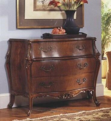 Fantastic Antique Reproduction French Walnut Bombe Bedroom Chest