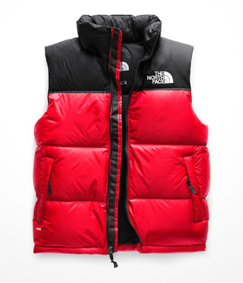 Authentic The North Face Mens 1996 Retro Nuptse Vest Red Black All Sizes New 6a4d35211