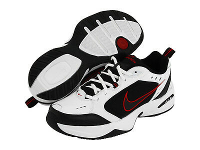 Nike AIR MONARCH IV Mens White Black Red 101 Lace Up Running Training Shoes