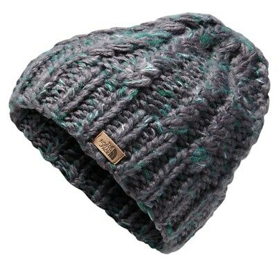 a01db692874 The North Face Chunky Knit Beanie - Women s Weathered Black Everglade Multi
