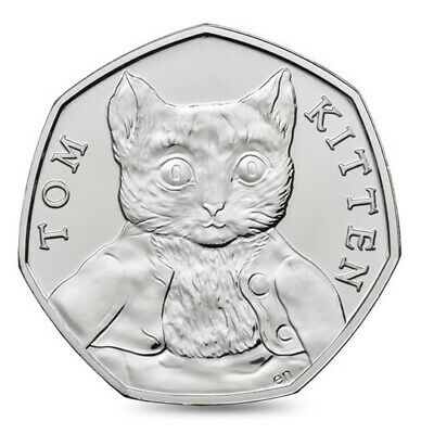 Tom Kitten - Beatrix Potter 50p Fifty Pence coin 2017 - Uncirculated - FREE POST