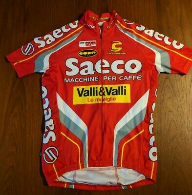 a6f960e9a Cannondale Team Saeco Red Vintage Cycling Jersey Shirt adult small Small  valli