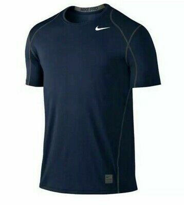 94f0d807 Nike Pro Cool Dri-Fit Mens Fitted Compression Shirt Navy Blue 703104-451 New