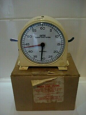 Vintage Smiths English Clock System Minutes & Seconds Process Timer 30s MIB Stop
