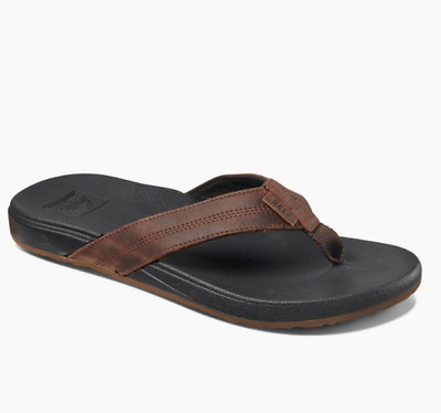 063c78a2bc2 Reef Men s Cushion Bounce Phantom LE Leather Flip Flop Sandals Black Brown