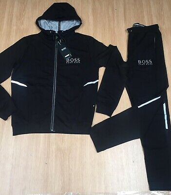 good selling sale uk delicate colors HUGO BOSS NEW Black Zipped Hooded Tracksuit Top and Bottoms ...