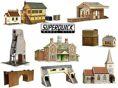 SUPERQUICK 00 Gauge Model Building Card Kits 1:72 scale Series A B and C