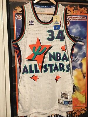 51e1684923d Hakeem Olajuwon 1995 NBA All Star Game Jersey Hardwood Classics Mens Large