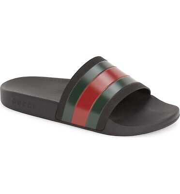 38dcb5eececac8 ▫ GUCCI MEN S Pursuit Rubber Slide Sandal  Size 6  Black ...