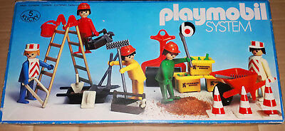 Vintage 70's Playmobil Exclusive 5 Klicky System 3200 Builders Construction mib