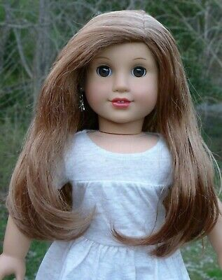 WIG from Lea Clark American Girl Doll Brown Hair Parts Repair Custom TLC