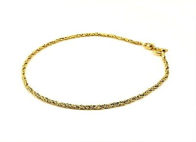"Beautiful Dainty 14K Solid Yellow Gold Byzantine Chain Bracelet 7.5"" Stamped"