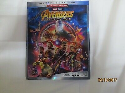 Avengers: Infinity War ( Blu-ray/Digital ) with Slipcover 2018 *NEW*