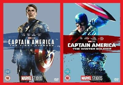 Captain America Blu-ray Double Pack The First Avenger & Winter Soldier Brand NEW