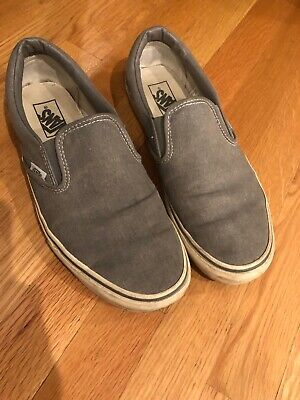 d42087083 Vans Mens for J.Crew washed canvas classic slip-on sneakers Gray Size 10