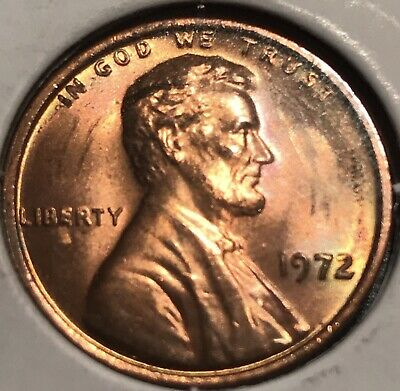 1972 DDO UNC Lincoln Memorial Cent Antique Roll Ended Error Penny