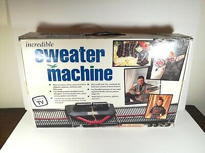 Vintage Bond The Incredible Sweater Knitting Machine Open Box Incomplete