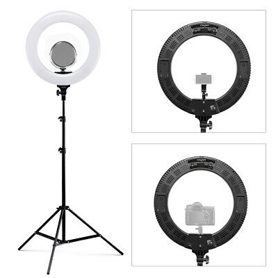 CRAPHY 18'' 48W LED Ringlicht Ringleuchte Studioleuchten dimmbar Dimmable Kit