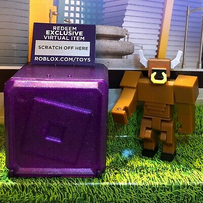 Roblox Book of Monsters MINOTAUR Series 3 Celebrity Collection PURPLE Box+Codes