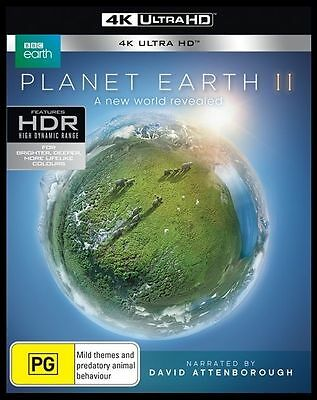 David Attenborough Planet Earth 2 II : NEW (4K Ultra HD - UHD) Blu-Ray