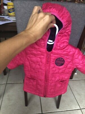 Fuschia Pink NWOT Lonsdale Baby Jacket 0-3 Months