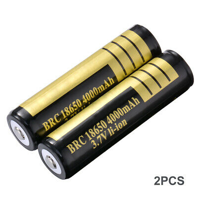 2x BRC 18650 Rechargeable Lithium Ion Battery 3.7V 4000mAh for Flashlight BC826
