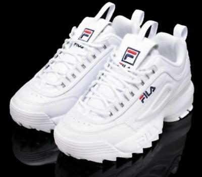 FILA Womens Disruptor II 2 Sneakers Casual Athletic Shoes Unisex Size UK 3-10