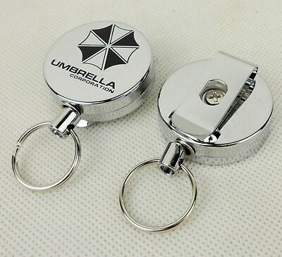 Resident Evil Umbrella Corporation Key Chain Metal Retractable Keychain