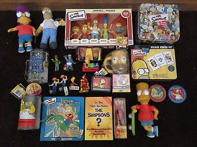 Collection Of Simpsons Collectibles - Figurines, Games, Novelty, Mugs Etc