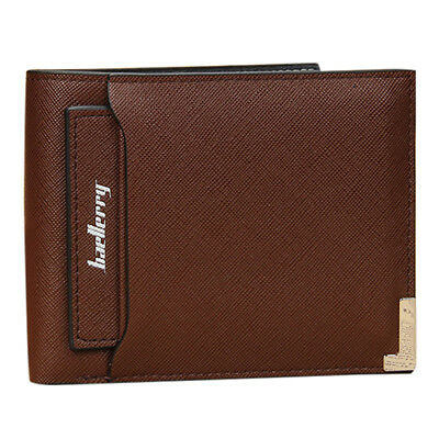 baellerry men's PU leather creative cross-pattern removable card bit wallet C4V3