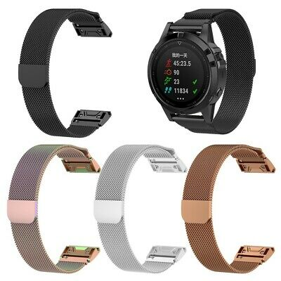New Wristband For Garmin Fenix 5/5X/5S Milanese Band Stainless Steel Strap