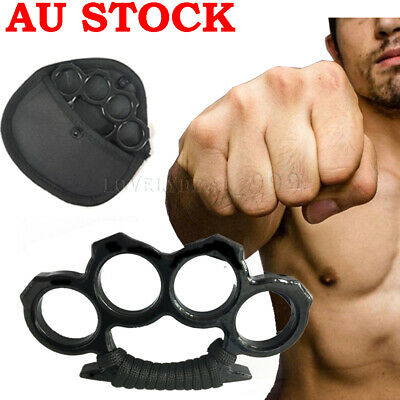 Stainless Steel Four Fingers Fist Self Defence Help Emergency Survival Tool