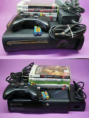 Microsoft Xbox 360 Console With Controller, Power & HDMI Cords, +5 Games