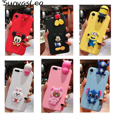 For Huawei Phones New 3D Cartoon Animal Silicone Soft Case Back Cover Skin Shell