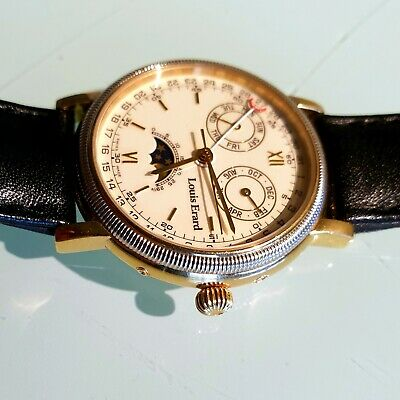 Stunning gold Louis Erard triple date moonphase early 2000s automatic ETA 2892