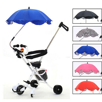 Adjustable Baby Kids Pram Buggy Stroller Pushchair Parasol Umbrella Anti-UV Rain