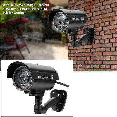 KD_ Fake Simulation Dummy Home Surveillance CCTV Camera with Flashing LED Ligh