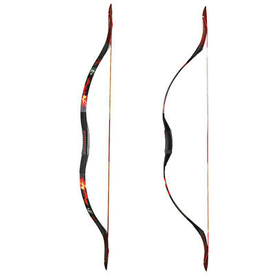 30-50lbs Traditional Recurve Bow Horse Longbow Shooting Hunting Left Right Hand