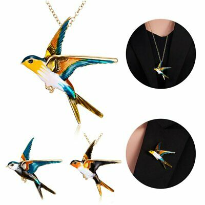 Fashion Cute Swallow Animal Brooch Pin Women Charms Necklace Brooch Jewelry Gift