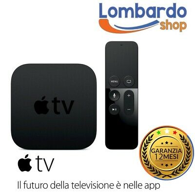 Apple Tv 4 Generazione 4K 64Gb A1842 Hdmi Wlan Siri Remote Controller Mqd22Hya