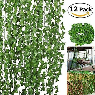 12 X 2M Artificial Ivy Vine Fake Foliage Flower Hanging Leaf Garland Plant Party