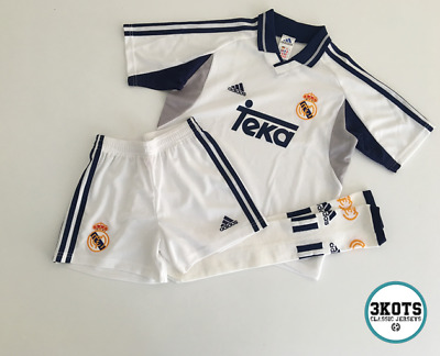 28b30e7e1 REAL MADRID 2000 01 Home Football KIT Shirt (10Y) Soocer Jersey Vintage  ADIDAS
