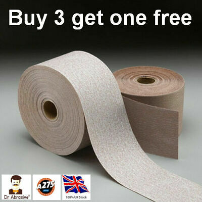 Sandpaper Roll Wet or Dry NORTON A275 Sheets 115mm No-Fil Layer Grit 120-400