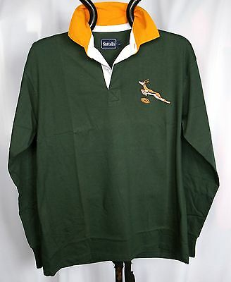 b2cca1d63ea SOUTH AFRICAN RETRO Classic Combed Cotton Springbok Rugby Shirt ...