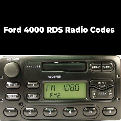 Ford 4000 RDS Radio Code Stereo Unlock Reset Codes Pin Car   Fast Service