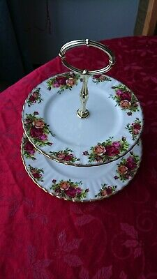 Royal Albert Old Country Roses - Two Tier Cake Stand