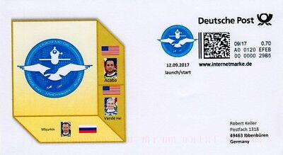 Space Internetmarke DP, Postkodierung, Sojus MS-06 launch zur ISS 2017