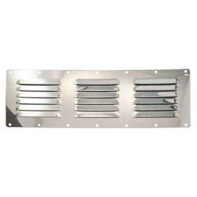 Louver Round Vent Panel Stainless Steel 102mm with Fly Screen