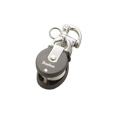 Snatch block mini with snap shackle stainless steel brl 800kg BARTON